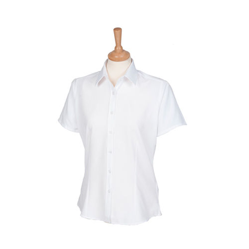 Henbury Ladies Wicking Short Sl. Shirt [XL] (White) (Art.-Nr. CA066964)