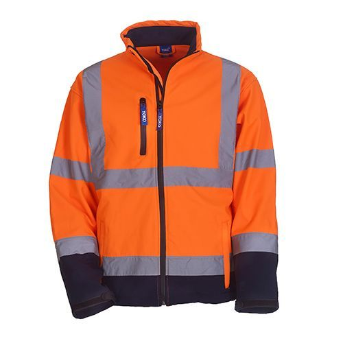 High Visibility 2 Bands & Braces Softshell Jacket [M] (Hi-Vis Orange) (Art.-Nr. CA067177)