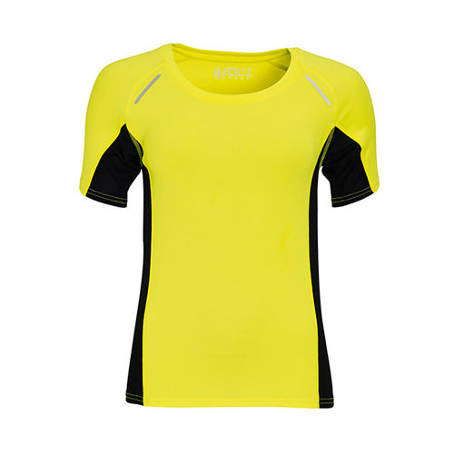 Women`s Short Sleeve Running Shirt Sydney [XL] (neon yellow) (Art.-Nr. CA069577)