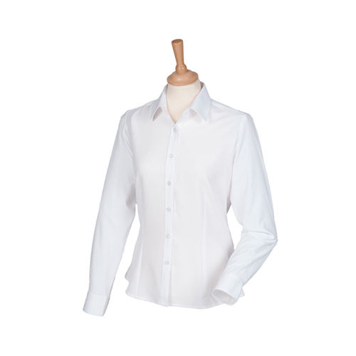 Henbury Ladies Wicking Long Sleeve Shirt [XL] (White) (Art.-Nr. CA070680)