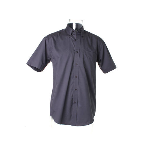 Men`s Classic Fit Corporate Oxford Shirt Short Sleeve [38 (15)] (charcoal) (Art.-Nr. CA071249)