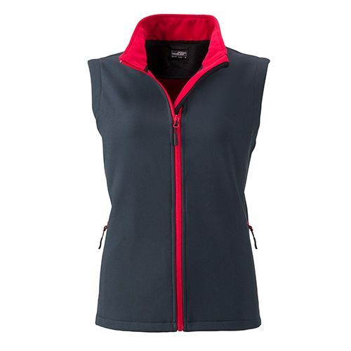 Ladies` Promo Softshell Vest [S] (Art.-Nr. CA071474) - Angenehmes, weiches, 2-lagiges Softshell...