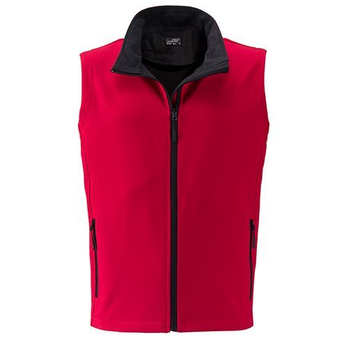 Men`s Promo Softshell Vest [L] (Art.-Nr. CA080757) - Angenehmes, weiches, 2-lagiges Softshell...