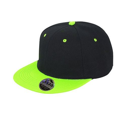 Bronx Dual Colour Cap [One Size] (black / lime) (Art.-Nr. CA082544)