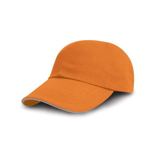 Printers / Embroiderers Cap [One Size] (Amber / heather grey) (Art.-Nr. CA083483)