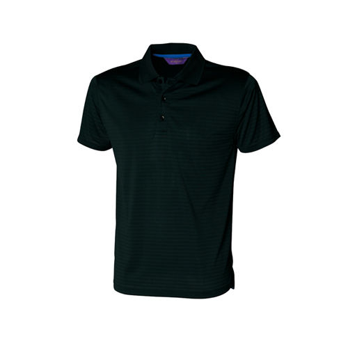 Cooltouch Textured Stripe Polo [S] (black) (Art.-Nr. CA083627)