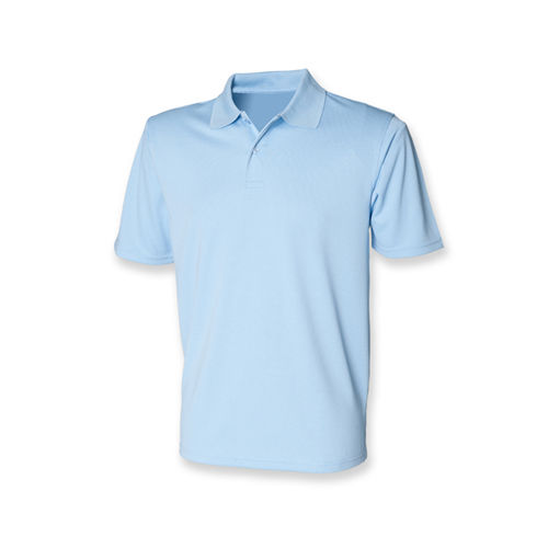 Henbury Men´s Coolplus Wicking Polo Shirt [L] (Light Blue) (Art.-Nr. CA089532)