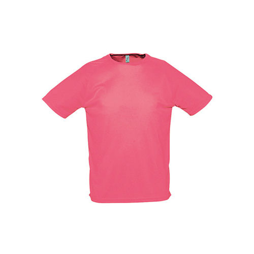 Mens Raglan Sleeves T Sporty [L] (neon Coral) (Art.-Nr. CA090128)