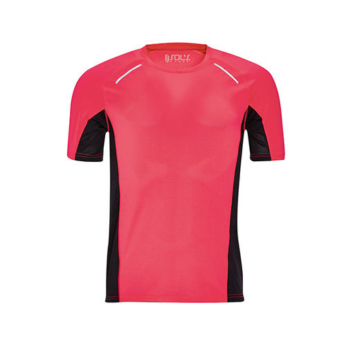 Men`s Short Sleeve Running T-Shirt Sydney [XXL] (neon Coral) (Art.-Nr. CA095422)