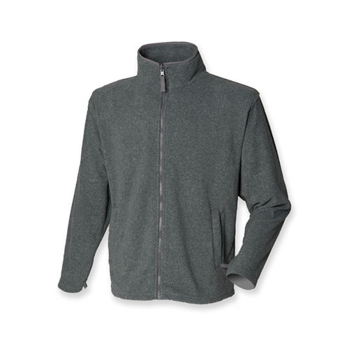 Henbury Men`s Microfleece Jacket [XL] (Charcoal Marl) (Art.-Nr. CA096023)