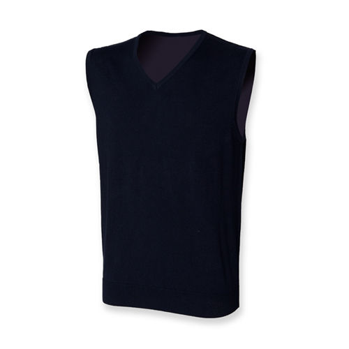 Henbury Men`s Lightweight Sleeveless V-Neck Jumper [XL] (Navy) (Art.-Nr. CA097039)