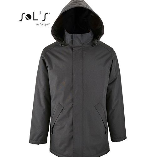 Unisex Jacket With Padded Lining Robyn [XXL] (charcoal grey (Solid)) (Art.-Nr. CA098001)