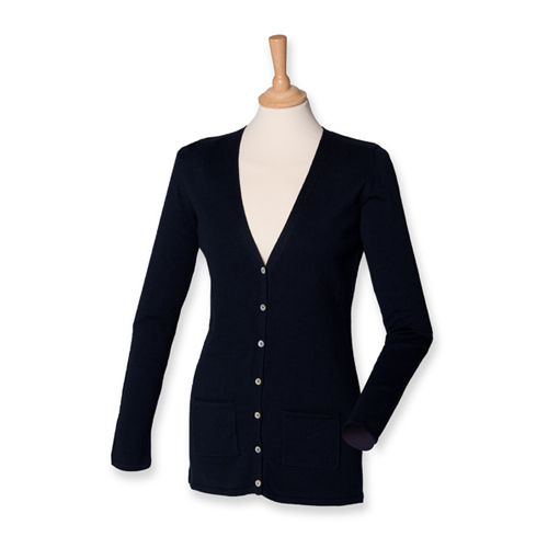 Henbury Ladies Lightweight V-Neck Cardigan [4XL] (Navy) (Art.-Nr. CA099602)
