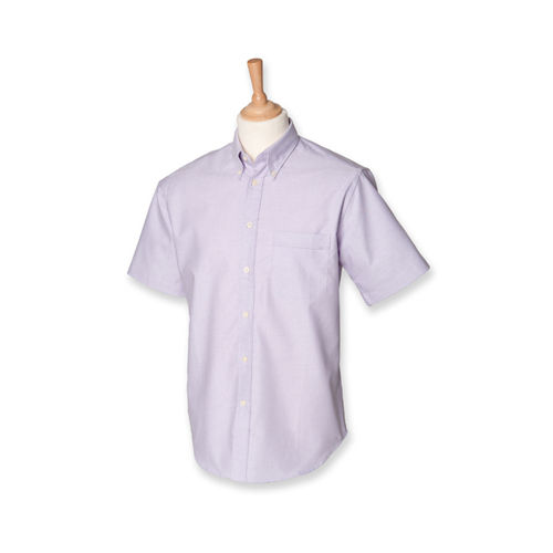 Henbury Men`s Classic Short Sleeved Oxford Shirt [XL] (Lilac) (Art.-Nr. CA099852)