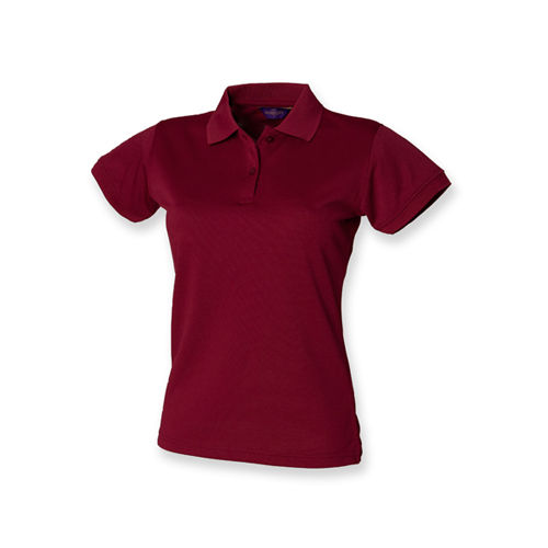 Henbury Ladies Coolplus Wicking Polo Shirt [M] (Burgundy) (Art.-Nr. CA099917)