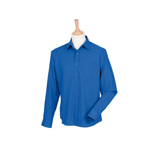 Henbury Men´s Wicking Long Sleeve Shirt [S] (Royal) (Art.-Nr. CA100869)