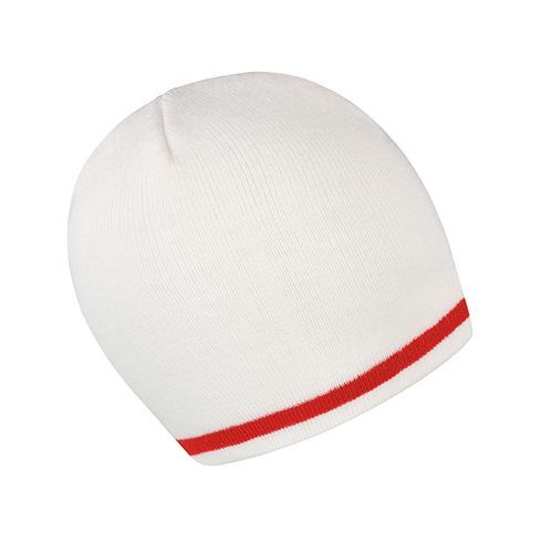 National Beanie [One Size] (white / red) (Art.-Nr. CA104804)