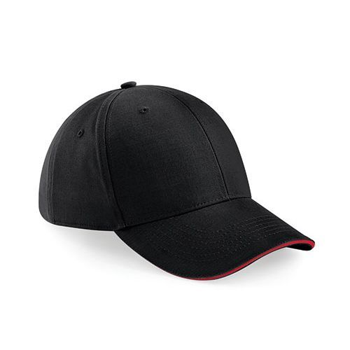 Athleisure 6 Panel Cap [One Size] (black / classic red) (Art.-Nr. CA105054)