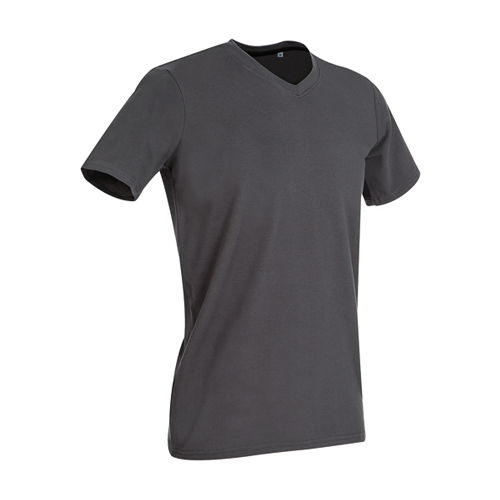 Clive V-Neck [XXL] (Slate grey (Solid)) (Art.-Nr. CA105845)