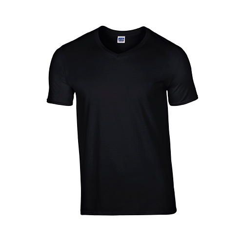 Softstyle® V-Neck T-Shirt [L] (black) (Art.-Nr. CA105883)