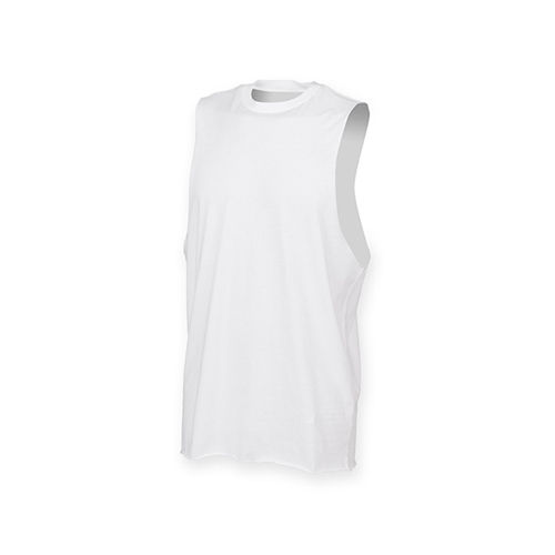 Mens High Neck Slash Armhole Vest [S] (white) (Art.-Nr. CA106476)