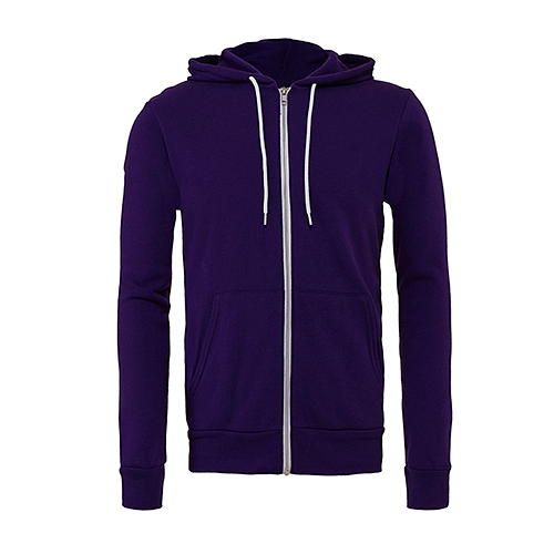 Unisex Zip-Up Poly-Cotton Fleece Hoodie [S] (Team Purple) (Art.-Nr. CA106573)