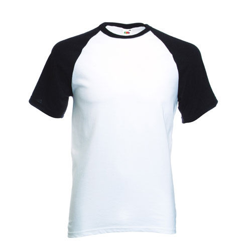 Shortsleeve Baseball T [XL] (white / black) (Art.-Nr. CA106583)