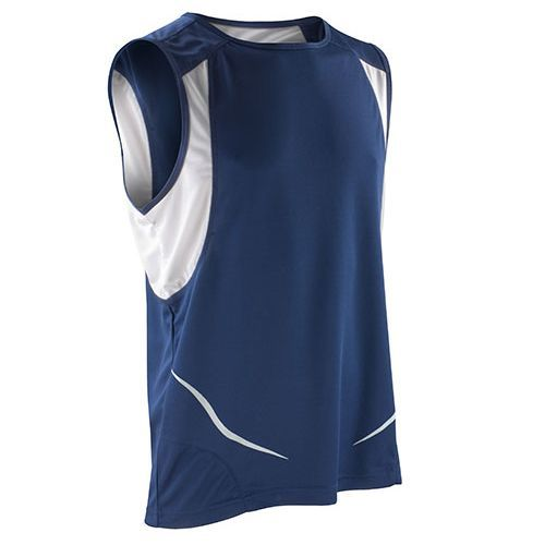 Sport Athletic Vest [S] (navy / white) (Art.-Nr. CA106621)