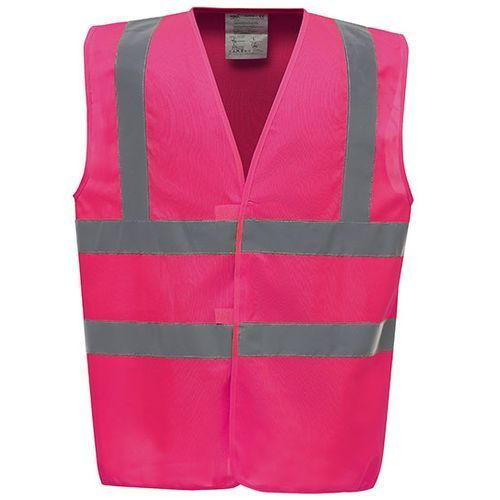 High Visibility 2 Bands & Braces Waistcoat [3XL] (Pink) (Art.-Nr. CA108247)