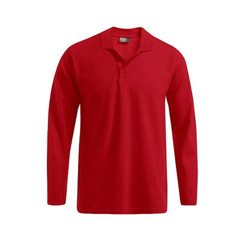 Men´s Heavy Polo Longsleeve [XL] (Fire red) (Art.-Nr. CA109101)