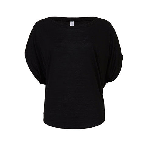 Flowy Draped Sleeve Dolman T-Shirt [L] (black) (Art.-Nr. CA109155)