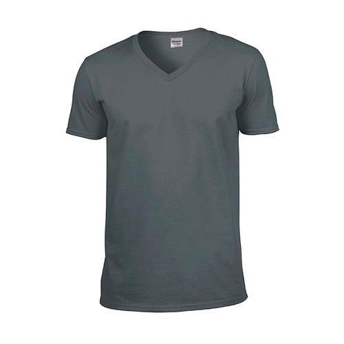 Softstyle® V-Neck T-Shirt [XXL] (charcoal (Solid)) (Art.-Nr. CA110286)