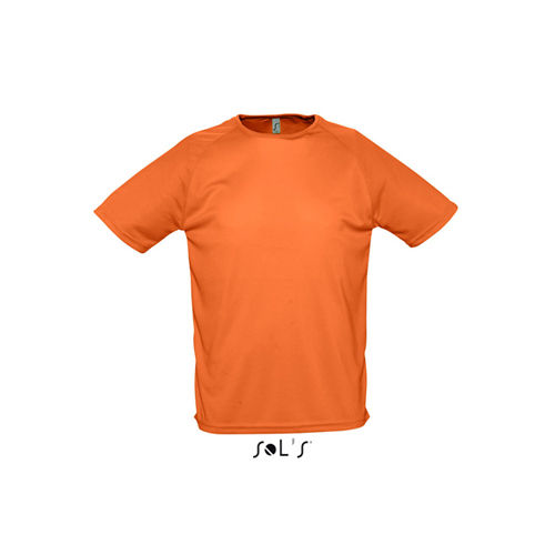 Mens Raglan Sleeves T Sporty [S] (orange) (Art.-Nr. CA110576)
