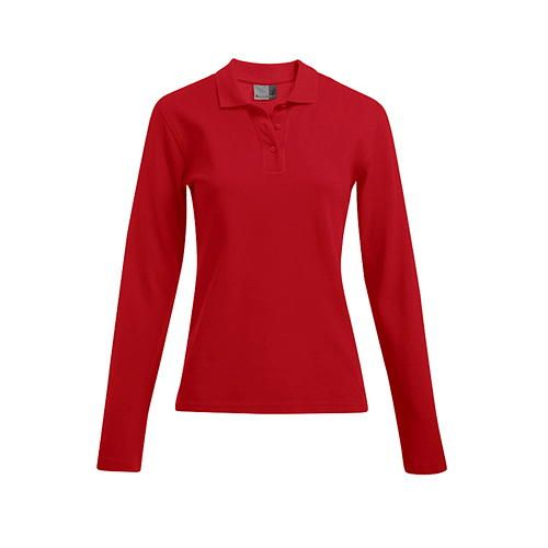 Women´s Heavy Polo Longsleeve [XL] (Fire red) (Art.-Nr. CA114082)