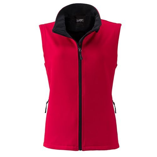 Ladies` Promo Softshell Vest [M] (Art.-Nr. CA118916) - Angenehmes, weiches, 2-lagiges Softshell...