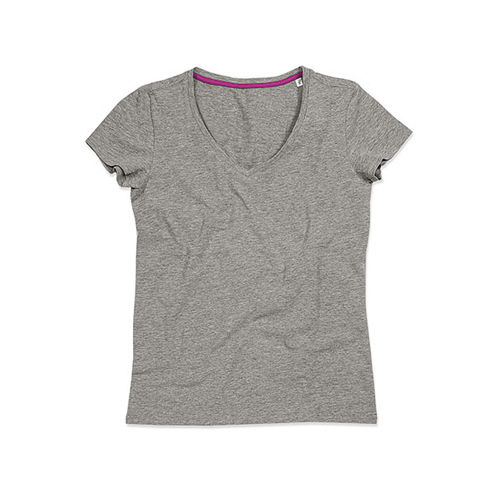 Claire V-Neck for women [XL] (grey heather) (Art.-Nr. CA119535)