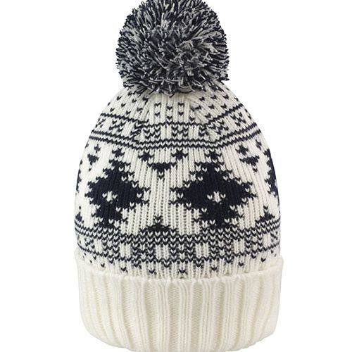 Deluxe Fair Isle Hat [One Size] (Ivory / navy) (Art.-Nr. CA121657)