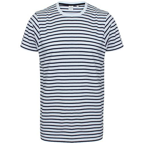 Unisex Striped T [M] (white / Oxford navy) (Art.-Nr. CA132817)