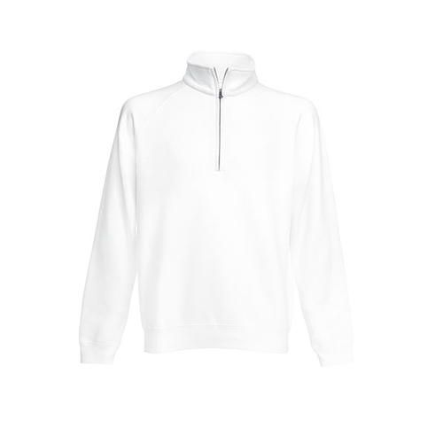 Classic Zip Neck Sweat [S] (white) (Art.-Nr. CA134882)
