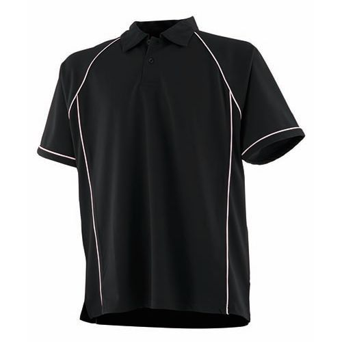 Men`s Piped Performance Polo [3XL] (black) (Art.-Nr. CA135422)
