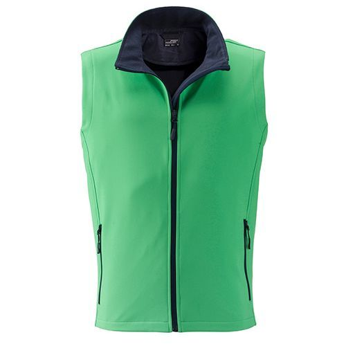 Men`s Promo Softshell Vest [XXL] (Art.-Nr. CA139344) - Angenehmes, weiches, 2-lagiges Softshell...