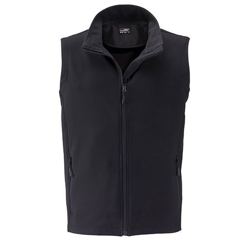 Men`s Promo Softshell Vest [M] (Art.-Nr. CA141554) - Angenehmes, weiches, 2-lagiges Softshell...