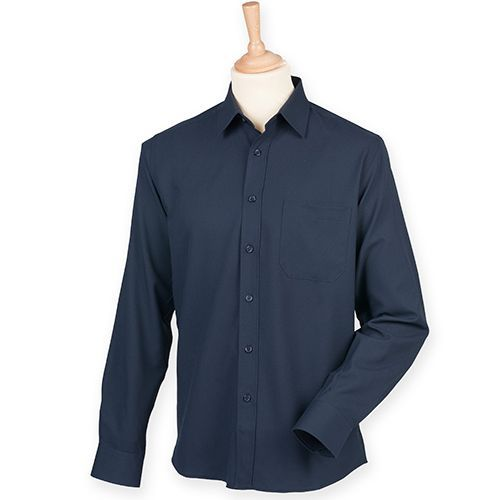 Men`s Wicking Long Sleeve Shirt [XL] (Navy) (Art.-Nr. CA142427)