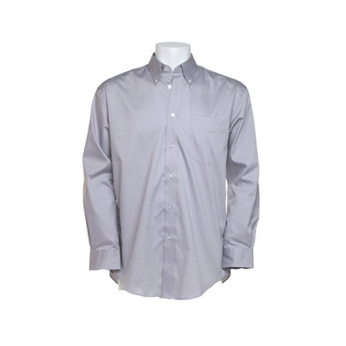 Men`s Classic FitCorporate Oxford Shirt Long Sleeve [39/40 (M/15H)] (silver grey (Solid)) (Art.-Nr. CA142854)