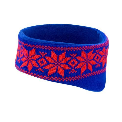 Fair Isle Head Warmer [One Size] (Royal / red) (Art.-Nr. CA145074)