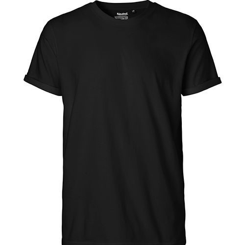 Men`s Roll Up Sleeve T-Shirt [XXL] (Black) (Art.-Nr. CA147245)