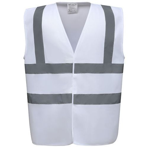 High Visibility 2 Bands & Braces Waistcoat [M] (White) (Art.-Nr. CA151986)