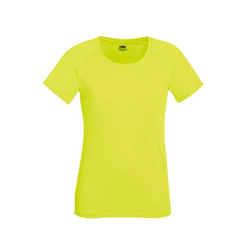 Fruit of the Loom Performance T Lady-Fit [S] (Bright Yellow) (Art.-Nr. CA156636)