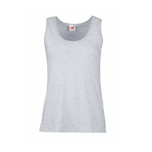 Fruit of the Loom Valueweight Vest Lady-Fit [S] (Heather Grey) (Art.-Nr. CA157802)
