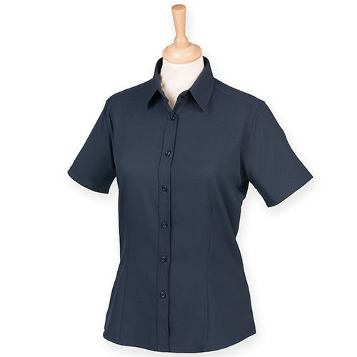 Ladies` Wicking Short Sleeve Shirt [3XL] (Navy) (Art.-Nr. CA158060)